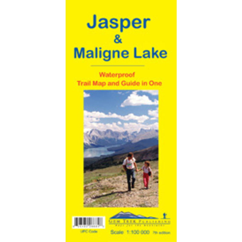Jasper& Maligne Lake Map 7th Edition