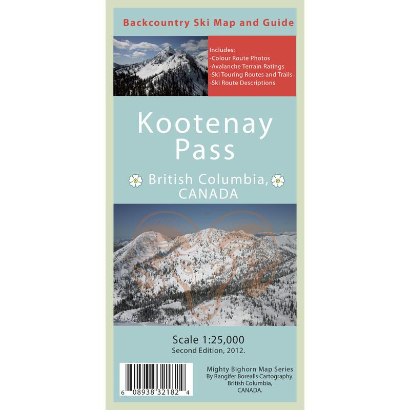 Kootenay Pass Backcountry Ski Map and Guide