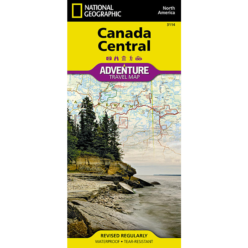 Canada Central Adventure Travel Map