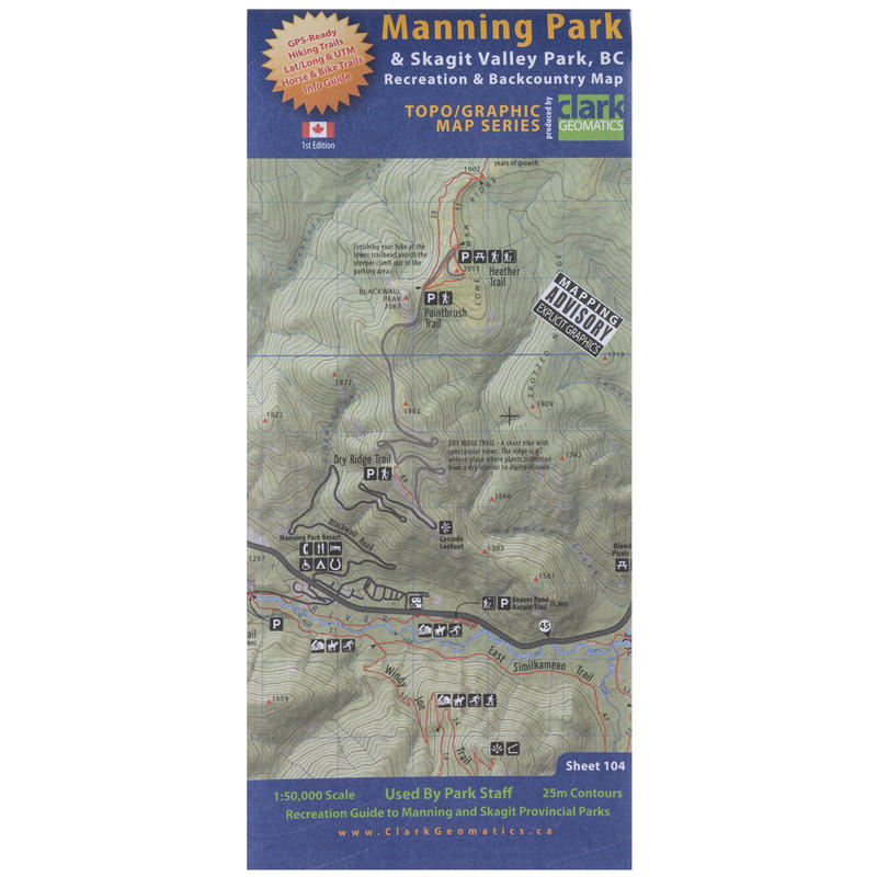 Manning Park& Skagit Valley Park Recreation Map