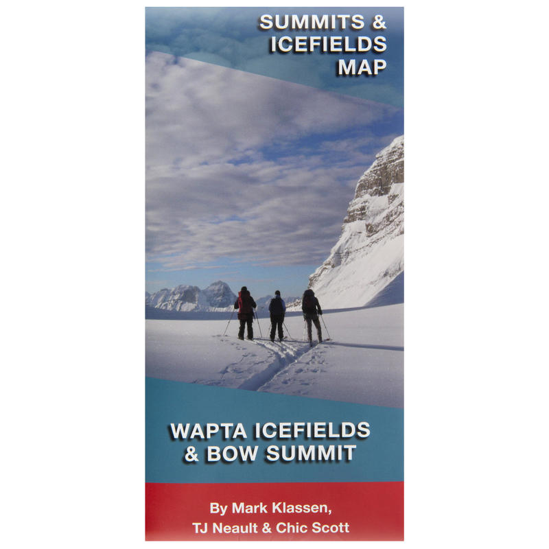 Summits& Icefields Map-Wapta Icefields&Bow Summit