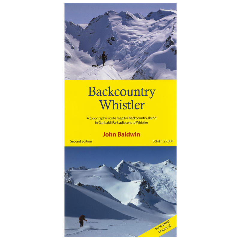 Backcountry Whistler Map 2nd Edition