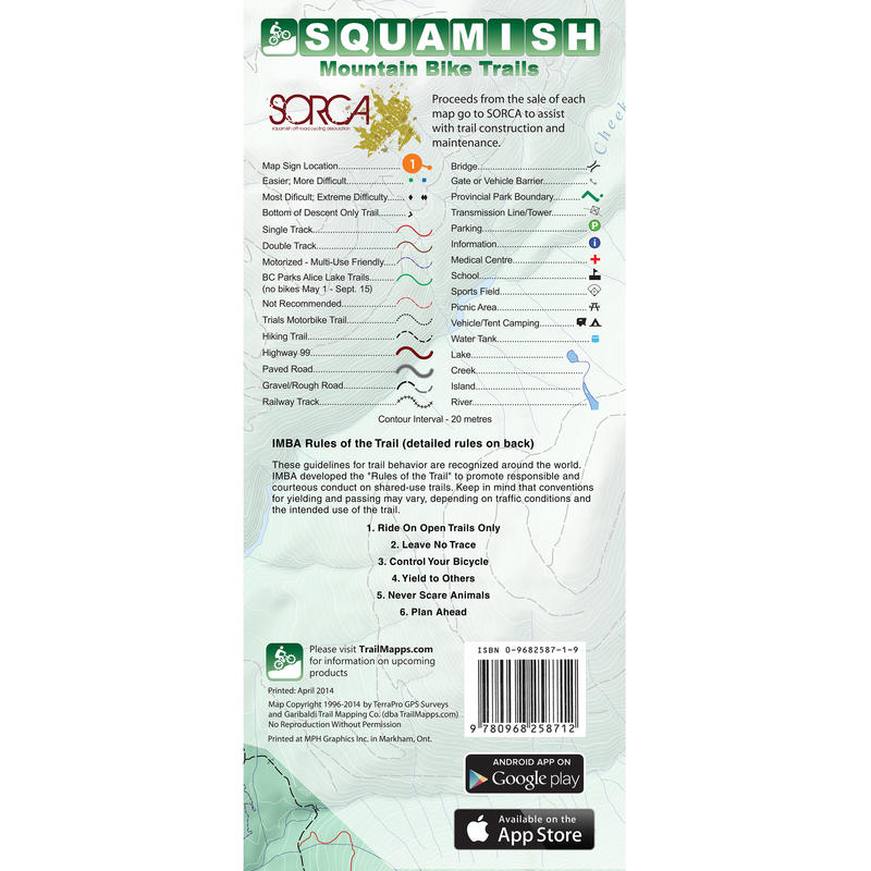 Squamish Mountain Bike Trails Map