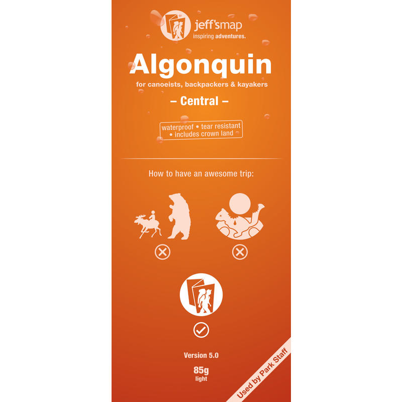 Algonquin Map for Canoeists - Central 2nd Edition