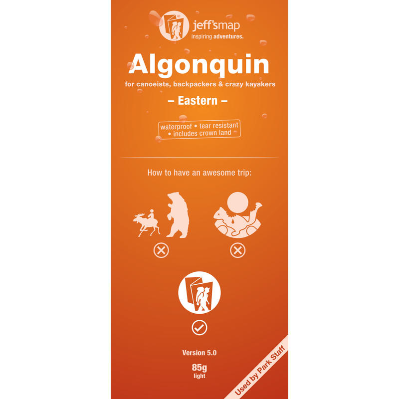 Algonquin Map for Canoeists - Eastern 2nd Edition