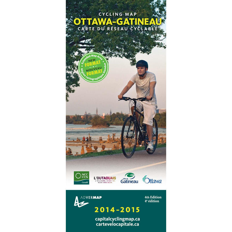 Ottawa-Gatineau Cycling Map 4th Edition