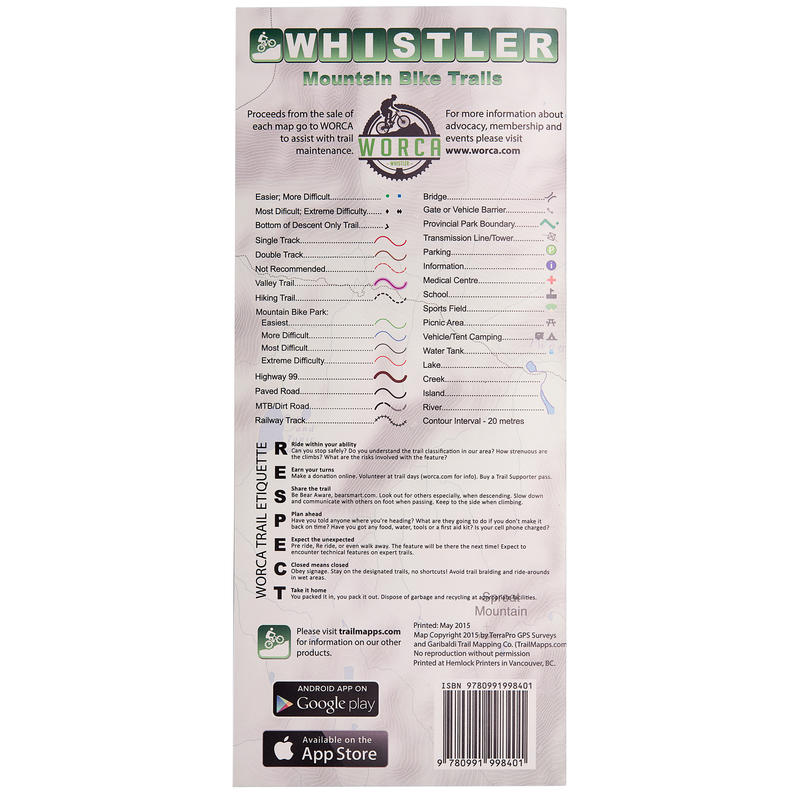 2015 Whistler Mountain Bike Trails Map