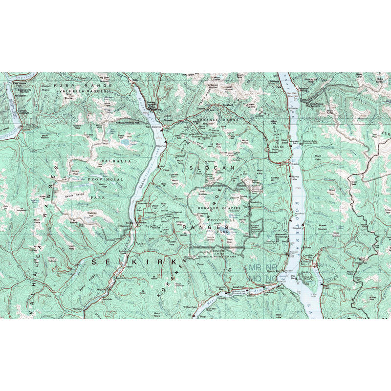 Kokanee Glacier Provincial Park Ski Map and Guide