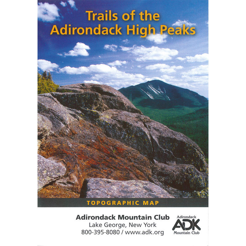 ADK Adirondack High Peaks Map 14th Edition