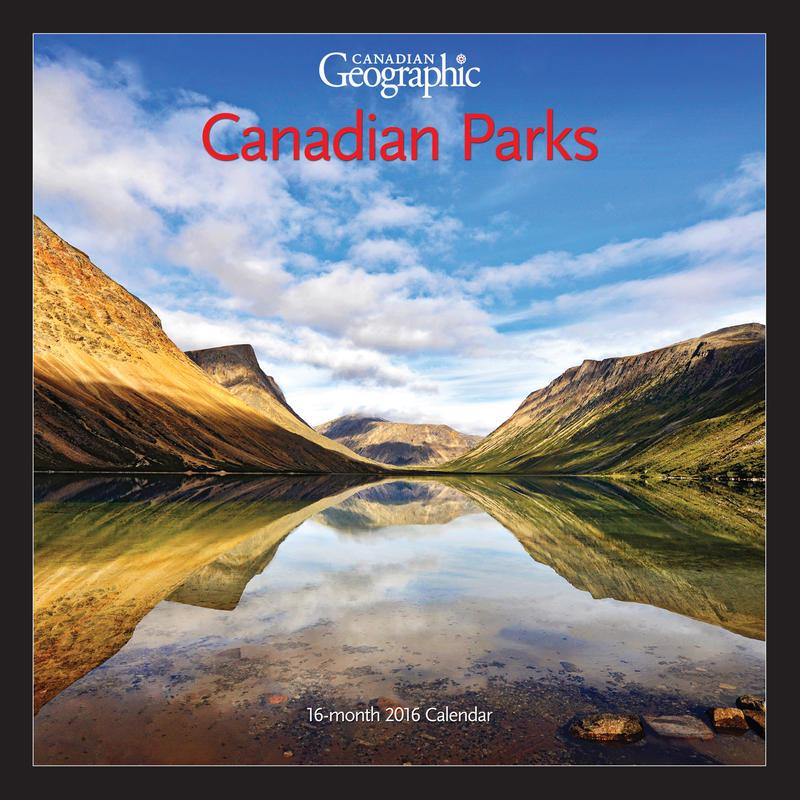 Calendrier Parcs du Canada 2016