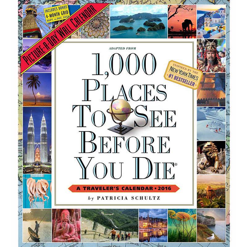 Calendier 1000 lieux à voir avant de mourir 2016