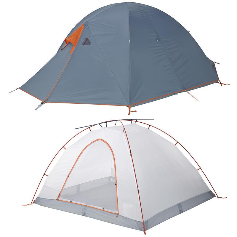 Tente Wanderer 4 Bleu fumée/Carotène
