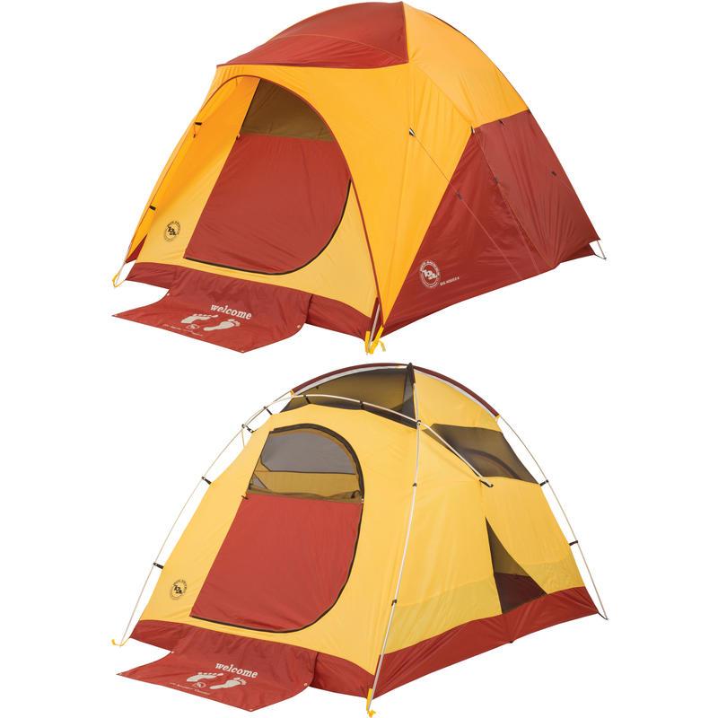 Tente Big House 4 Jaune/Rouge