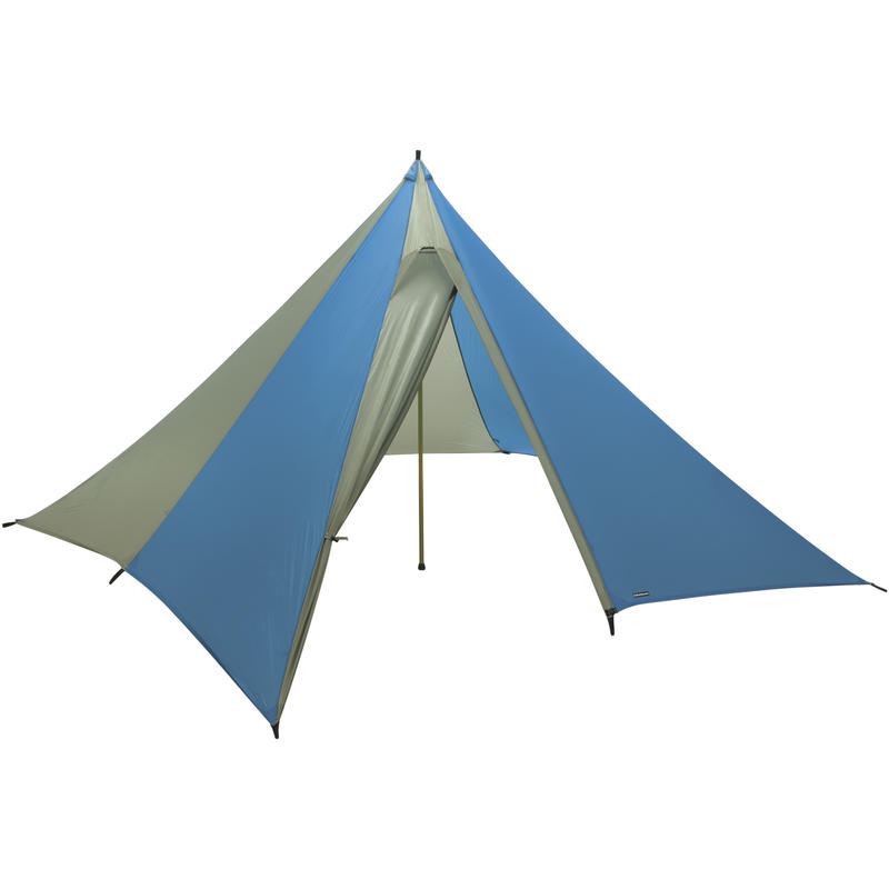 Mega Light Tarp Shelter (With Pole) Blue/Silver