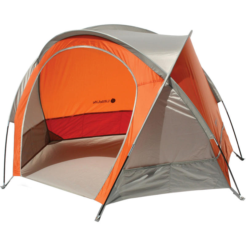 Compact Beach Shelter Orange/Grey