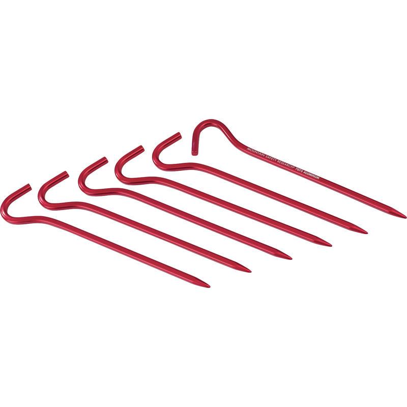 Piquets Hook (paquet de 6) Rouge