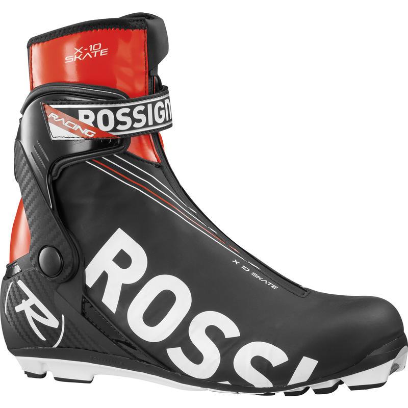 Bottes de ski de patin X10 Noir/Rouge