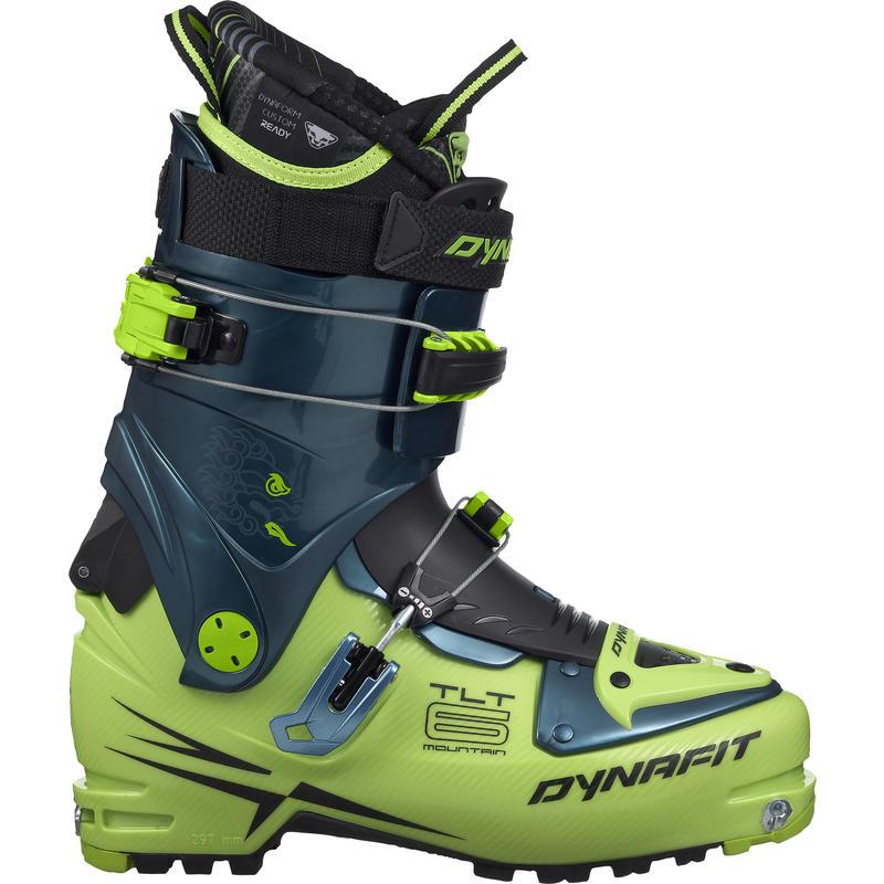 Bottes de ski de haute route TLT6 Mountain CR Vert cactus/Pétrole