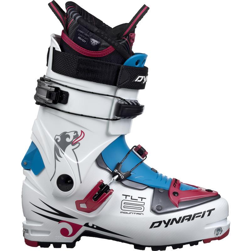 Bottes de ski de haute route TLT6 Mountain CR Blanc/Azalée