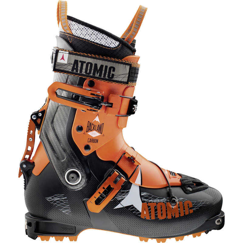 Bottes de ski Backland en carbone Orange/Noir