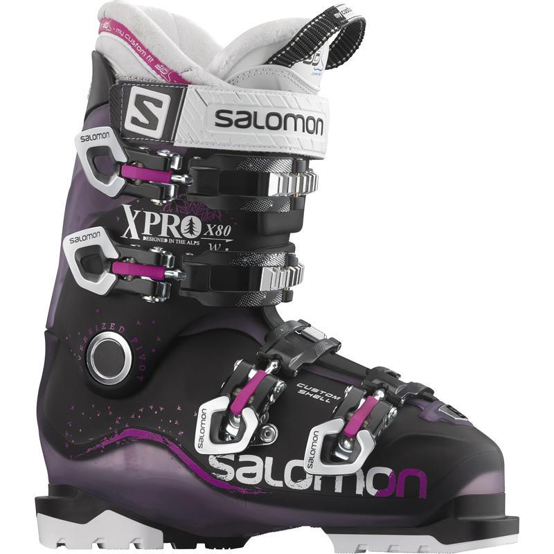Bottes de ski X-Pro 80 Translucide pourpre/Noir