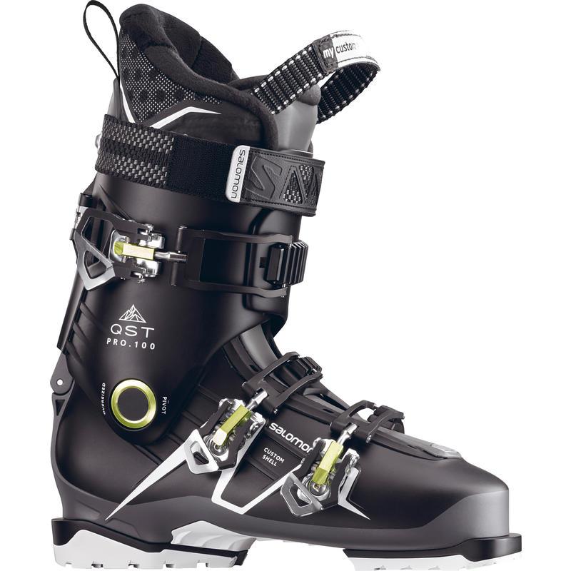 Bottes de ski QST Pro 100 Noir/Anthracite/Vert acide