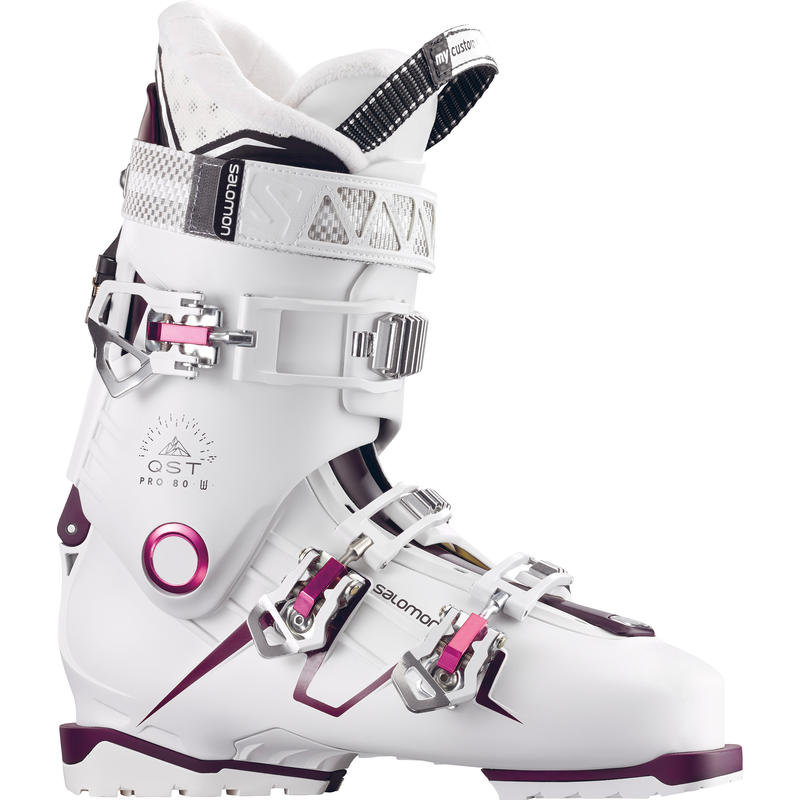 Bottes de ski QST Pro 80 Blanc/Bourgogne/Rose