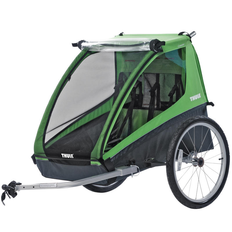 Cadence 2 Child Trailer Green