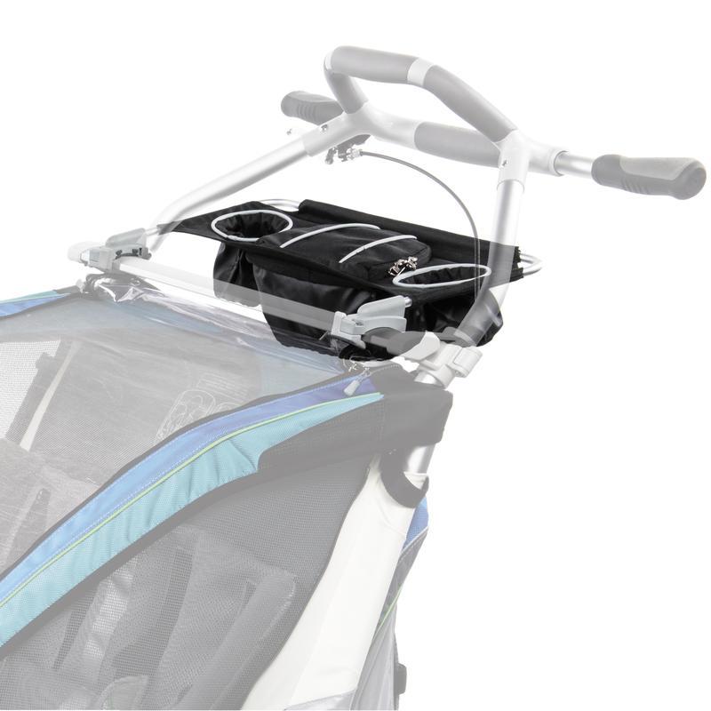 Module de rangement pour remorque de vélo double