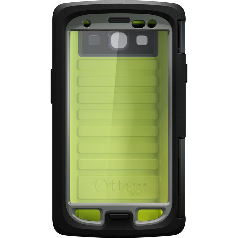 Étui Armor pour Galaxy S III Ardoise/Vert