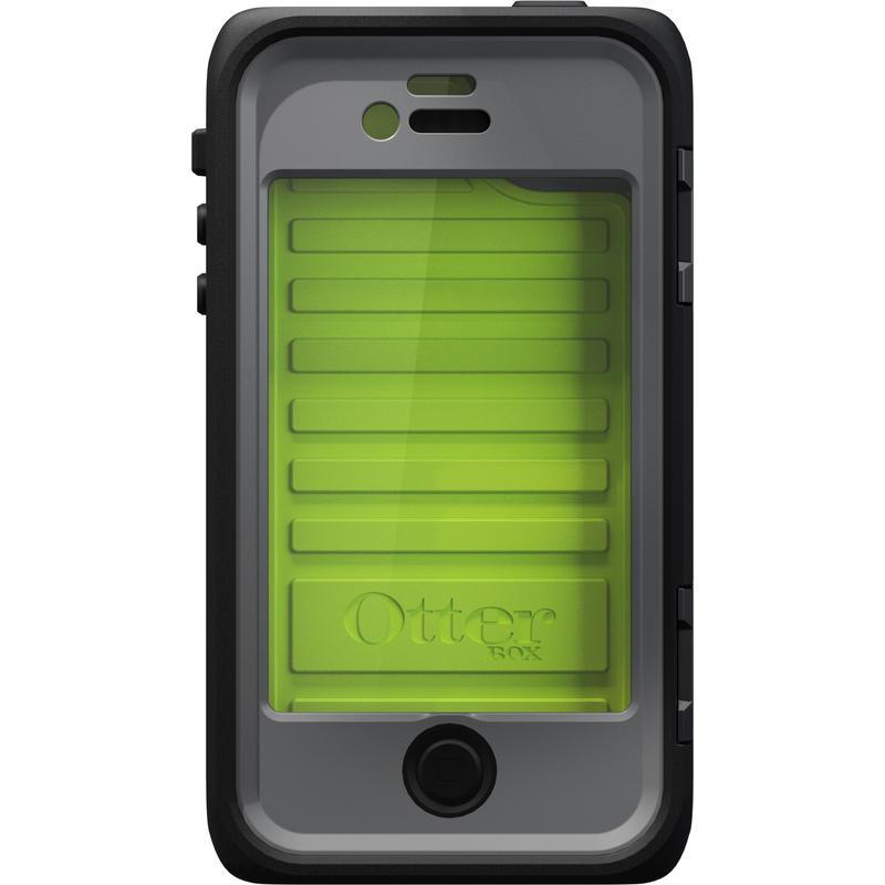 Étui Armor pour iPhone4/4S Ardoise/Vert