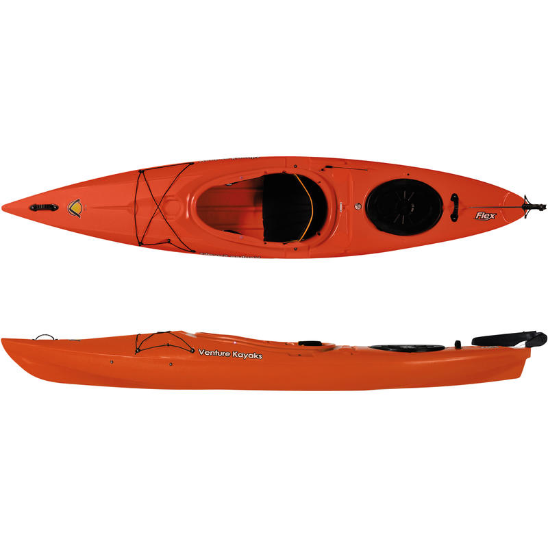 Flex 11 Kayak with Rudder Orange