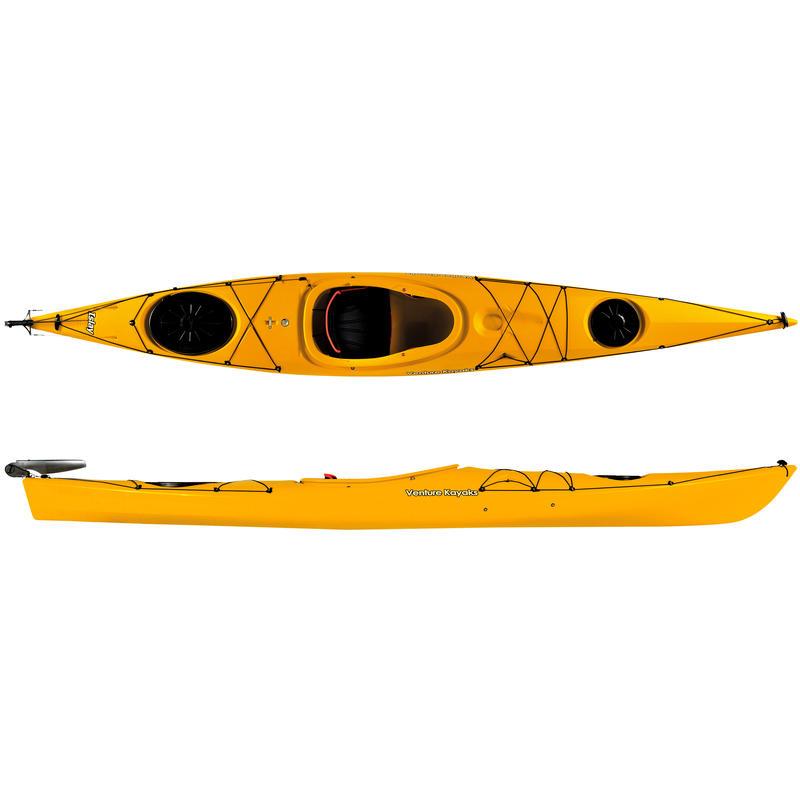 Kayak Islay 14 avec gouvernail Jaune