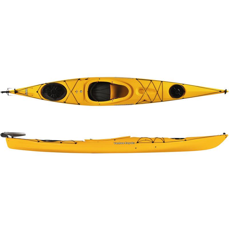 Islay 14 LV Kayak w/Rudder Yellow