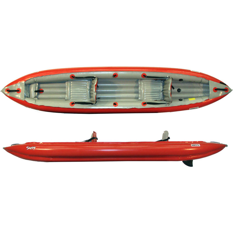 Kayak gonflable Sunny Rouge