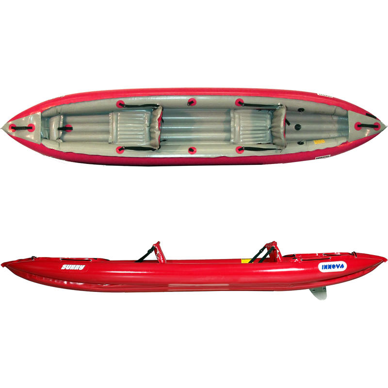 Sunny EX Inflatable Kayak (w/pump) Red