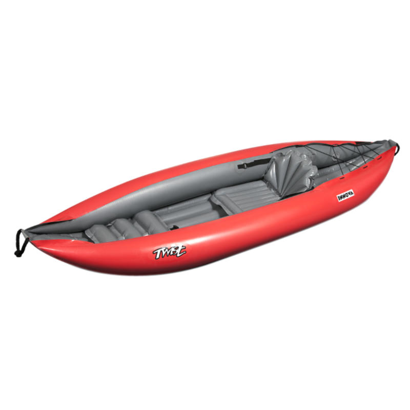 Twist I Inflatable Kayak (w/pump) Red/Grey