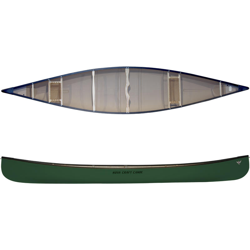 Canot Muskoka en fibre de verre et aluminium Vert