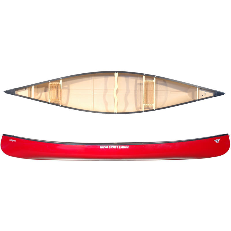 Canot Bob Special en fibre de verre et aluminium Rouge