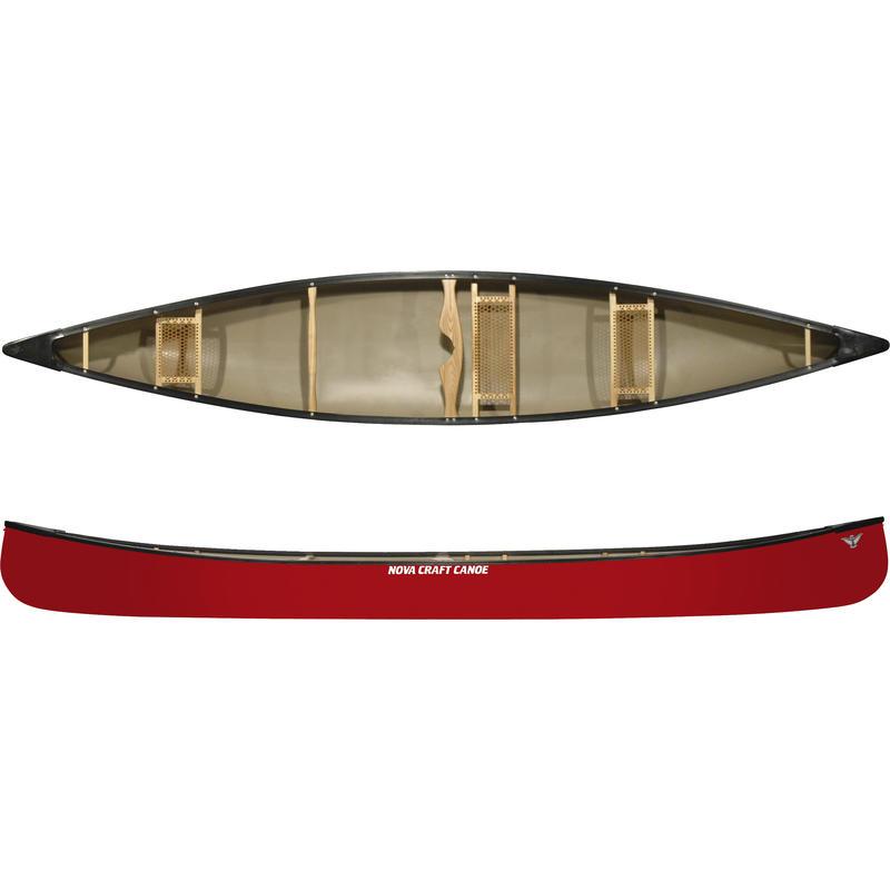 Prospector 17 Royalex/Vinyl w/Center Seat Canoe Red