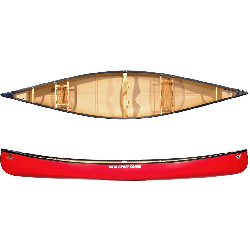 Canot Prospector 15 pi en fibre de verre/aluminium Rouge