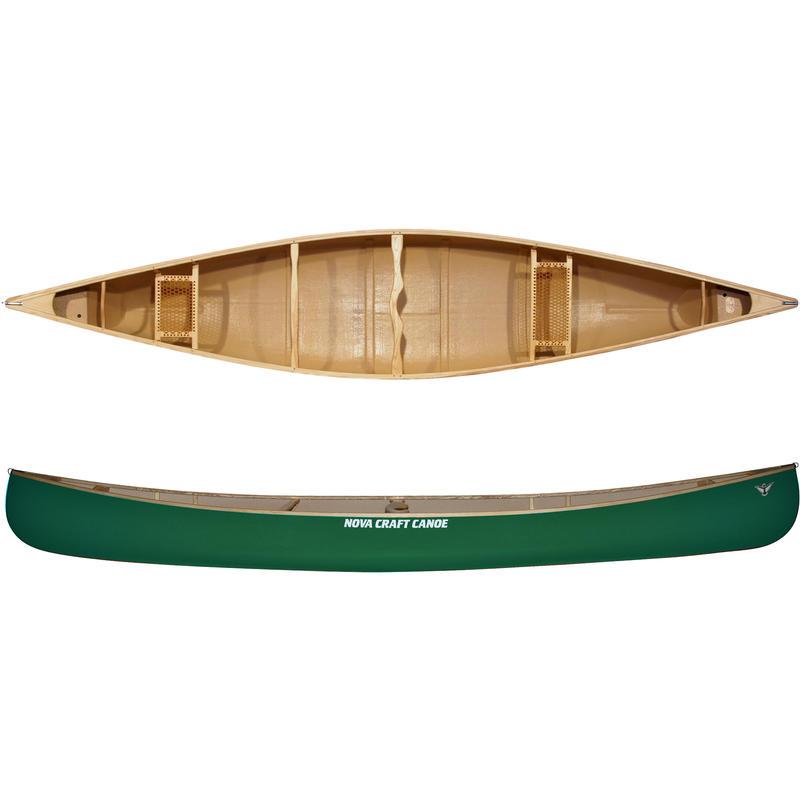 Canot Prospector de 15 pi en fibre de verre/frêne Vert