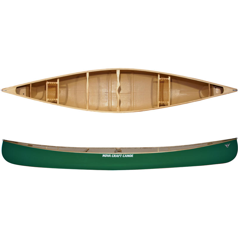Canot Prospector de 16 pi en fibre de verre/frêne Vert