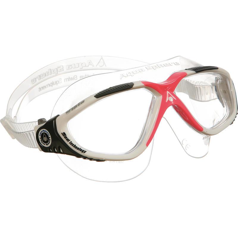 Lunettes de natation Vista pour femmes Rouge/Transparent