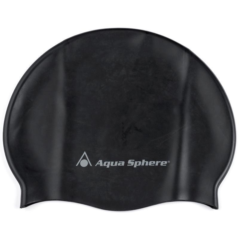 Casque de bain en silicone Noir