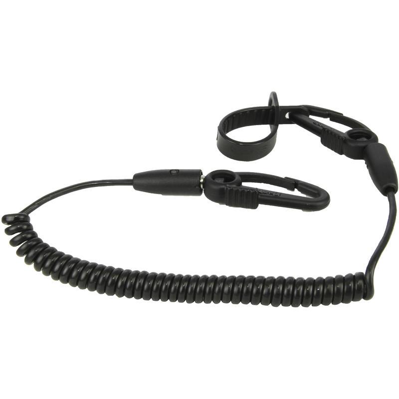 Laisse de pagaie C avec câble spirale Noir