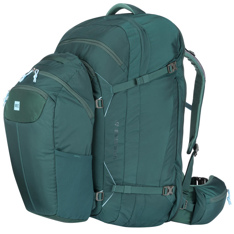 Supercontinent 65 Travel Pack Kale/Woodland Green