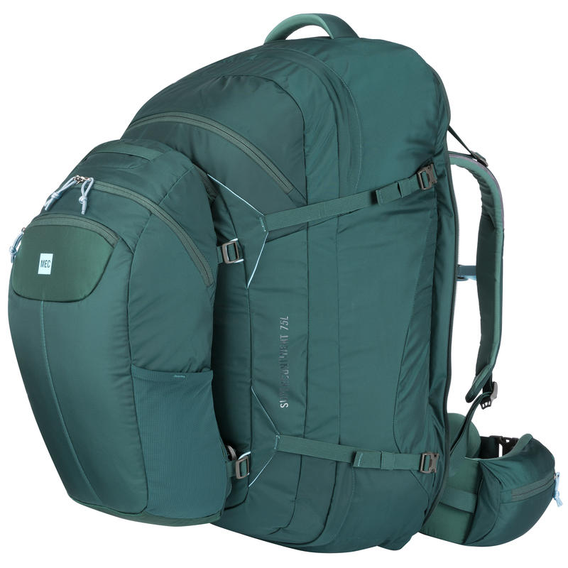 Supercontinent 75 Travel Pack Kale/Woodland Green