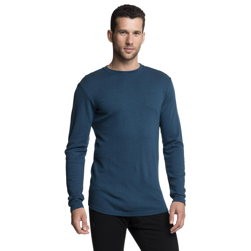 Merino T3 Long Sleeve Crew Blue Depth