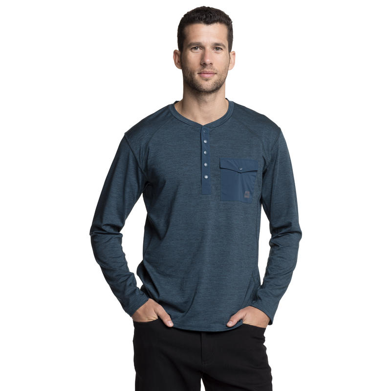 Outflow Sweater Blue Depth Heather